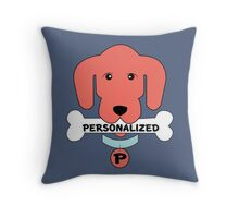Personalized Accessories with Dog (Color and name can be personalized) Throw Pillow