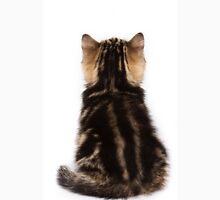 Striped cute fluffy kitten Unisex T-Shirt