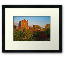 Ireland. County Clare. Knappogue Castle. Sunset. Framed Print