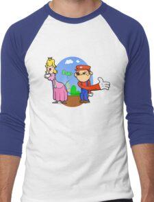 Princess Peach is in da' castle! Men's Baseball ¾ T-Shirt