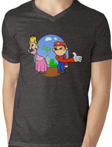Princess Peach is in da' castle! Mens V-Neck T-Shirt