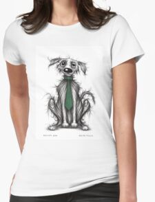 Grumpy dog Womens Fitted T-Shirt