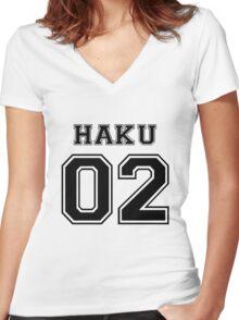 Spirited Away - Haku Varsity Women's Fitted V-Neck T-Shirt