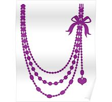 Hanging bow beaded necklace (decoration) Poster