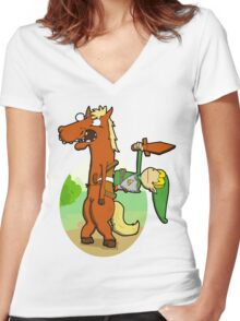 Inbred Epona. Women's Fitted V-Neck T-Shirt