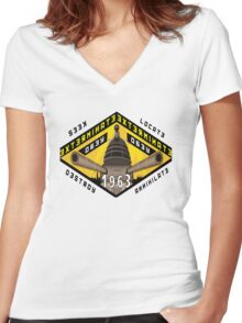 Battleship Dalek 1963 Women's Fitted V-Neck T-Shirt