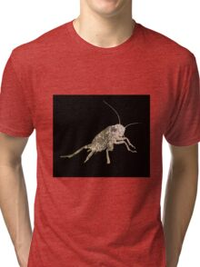 Insect Texture Outline Black 5 Tri-blend T-Shirt