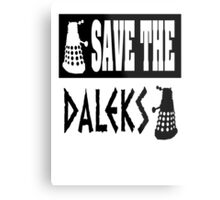 Save the Daleks Metal Print