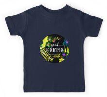 Good Karma Mantra Tropical Flowers Jungle Inverted Kids Tee