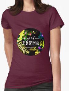 Good Karma Mantra Tropical Flowers Jungle Inverted T-Shirt