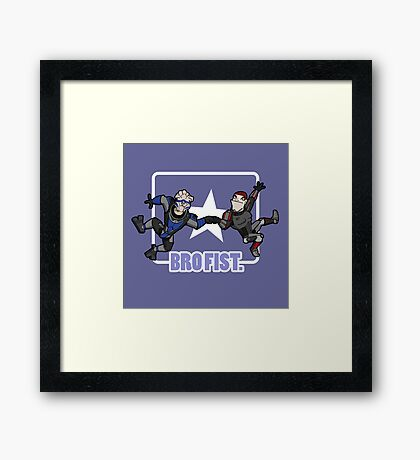 Bro's 4 life - Mass Effect Framed Print