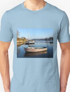 Happy Reflections Of An Old Red Boat Unisex T-Shirt