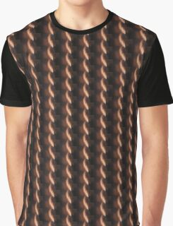 brown and black Graphic T-Shirt