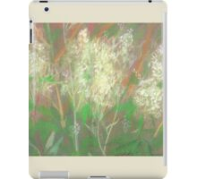 """""""White flowers"""", summer plants, pastel painting, life sketch iPad Case/Skin"""