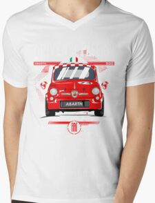 FIAT ABARTH 500 Mens V-Neck T-Shirt