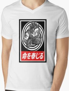 Super Saiyan vortex Aesthetics Mens V-Neck T-Shirt