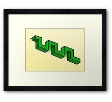 Impossible snake Framed Print