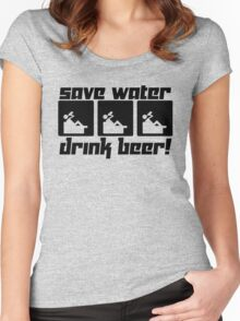 Save Water Drink Beer! Women's Fitted Scoop T-Shirt