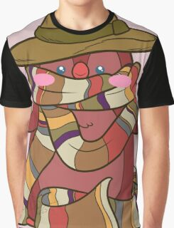 Fourth Doctor Penguin - Doctor Who Graphic T-Shirt