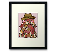 Fourth Doctor Penguin - Doctor Who Framed Print