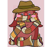 Fourth Doctor Penguin - Doctor Who Photographic Print
