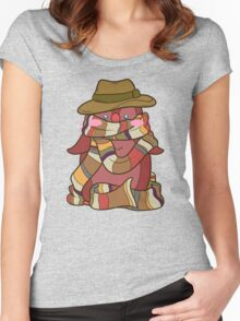 Fourth Doctor Penguin - Doctor Who Women's Fitted Scoop T-Shirt