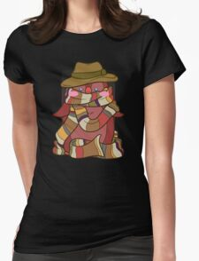 Fourth Doctor Penguin - Doctor Who Womens Fitted T-Shirt