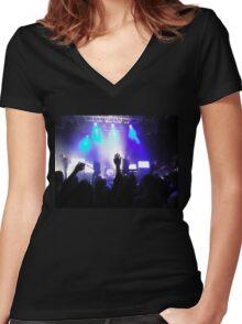 Rock Fest Women's Fitted V-Neck T-Shirt