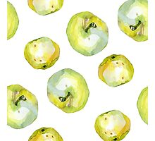 Watercolor apples pears pattern Photographic Print