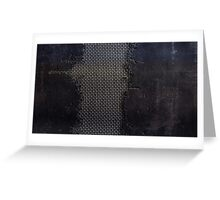 metal cracks Greeting Card
