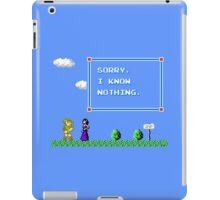 Sorry, I Know Nothing iPad Case/Skin