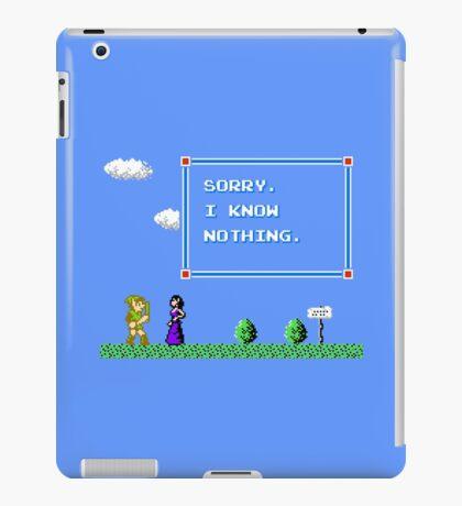Sorry, I Know Nothing iPad Case/Skin