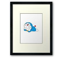 doraemon cartoon Framed Print
