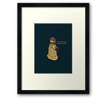 Sherlock Dalek  Framed Print