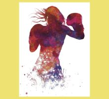 woman boxer boxing kickboxing silhouette isolated 02 Kids Tee