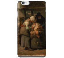 Shearing Sheep Jean-François Millet iPhone Case/Skin