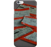 Old Train Tickets iPhone Case/Skin