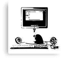 iMac G4 Black Sketch Canvas Print