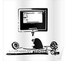 iMac G4 Black Sketch Poster