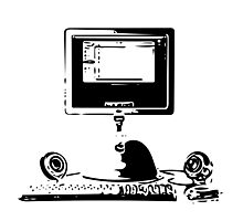 iMac G4 Black Sketch Photographic Print