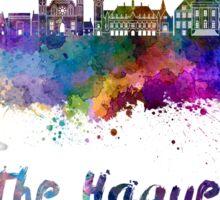 The Hague skyline in watercolor Sticker