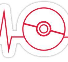 Pokemon Pokeball Heartbeat T-shirt Sticker