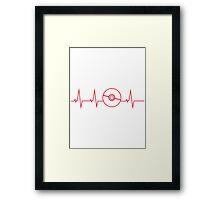 Pokemon Pokeball Heartbeat T-shirt Framed Print