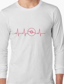 Pokemon Pokeball Heartbeat T-shirt Long Sleeve T-Shirt