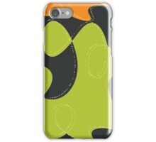 Retro Blobs Abstract iPhone Case/Skin