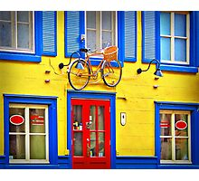Hanging bycicle Photographic Print