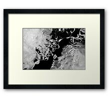 Ice Face Framed Print
