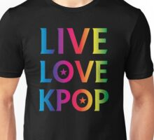 LIVE LOVE K-pop RAINBOW Unisex T-Shirt
