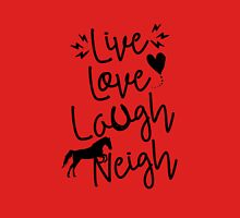 Live Love Laugh Neigh Women's Fitted V-Neck T-Shirt
