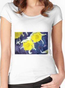 Daffodils - Bright Women's Fitted Scoop T-Shirt